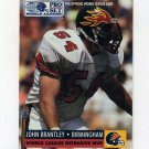 1991 Pro Set Football #705 John Brantley - Birmingham Fire