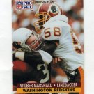 1991 Pro Set Football #681 Wilber Marshall - Washington Redskins