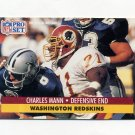 1991 Pro Set Football #680 Charles Mann - Washington Redskins