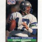 1991 Pro Set Football #664 Dave Krieg - Seattle Seahawks