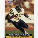 1991 Pro Set Football #648 Derrick Walker RC - San Diego Chargers