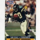 1991 Pro Set Football #644 Sam Seale - San Diego Chargers