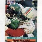 1991 Pro Set Football #565 Louis Oliver - Miami Dolphins