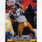 1991 Pro Set Football #557 Michael Stewart - Los Angeles Rams
