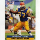 1991 Pro Set Football #553 Duval Love RC - Los Angeles Rams