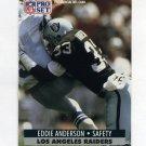 1991 Pro Set Football #542 Eddie Anderson - Los Angeles Raiders