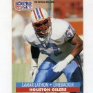 1991 Pro Set Football #519 Lamar Lathon - Houston Oilers