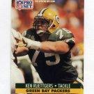 1991 Pro Set Football #511 Ken Ruettgers - Green Bay Packers