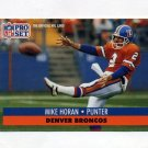 1991 Pro Set Football #489 Mike Horan - Denver Broncos