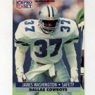 1991 Pro Set Football #486 James Washington RC - Dallas Cowboys