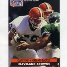 1991 Pro Set Football #477 Dan Fike - Cleveland Browns