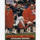 1991 Pro Set Football #473 Reggie Langhorne - Cleveland Browns
