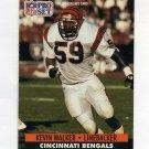 1991 Pro Set Football #466 Kevin Walker RC - Cincinnati Bengals