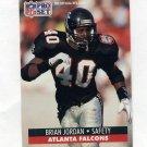 1991 Pro Set Football #436 Brian Jordan - Atlanta Falcons
