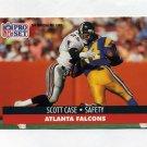 1991 Pro Set Football #433 Scott Case - Atlanta Falcons