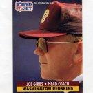 1991 Pro Set Football #324 Joe Gibbs CO - Washington Redskins
