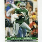 1991 Pro Set Football #253 Eric Allen - Philadelphia Eagles