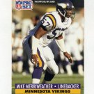 1991 Pro Set Football #219 Mike Merriweather - Minnesota Vikings