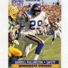 1991 Pro Set Football #217A Darrell Fullington - Minnesota Vikings