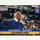 1991 Pro Set Football #207 John Robinson CO - Los Angeles Rams