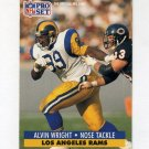 1991 Pro Set Football #206 Alvin Wright - Los Angeles Rams