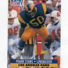 1991 Pro Set Football #205 Frank Stams - Los Angeles Rams