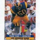 1991 Pro Set Football #205 Frank Stams - Los Angeles Rams