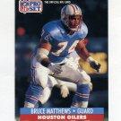 1991 Pro Set Football #166 Bruce Matthews - Houston Oilers
