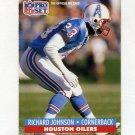 1991 Pro Set Football #165 Richard Johnson - Houston Oilers