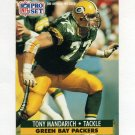 1991 Pro Set Football #157 Tony Mandarich - Green Bay Packers