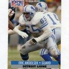 1991 Pro Set Football #145 Eric Andolsek - Detroit Lions