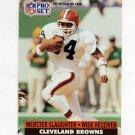 1991 Pro Set Football #125B Webster Slaughter - Cleveland Browns