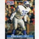 1991 Pro Set Football #147 Bennie Blades - Detroit Lions