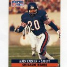 1991 Pro Set Football #101 Mark Carrier - Chicago Bears