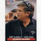 1991 Pro Set Football #099 Jerry Glanville CO - Atlanta Falcons