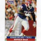 1991 Pro Set Football #073 Howard Ballard - Buffalo Bills