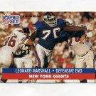 1991 Pro Set Football #067 Leonard Marshall - New York Giants