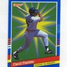 1991 Donruss Baseball Grand Slammers #07 Cecil Fielder - Detroit Tigers