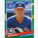 1991 Donruss Baseball #736 Kelly Mann - Atlanta Braves