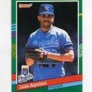 1991 Donruss Baseball #718 Luis Aquino - Kansas City Royals