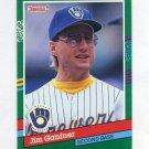 1991 Donruss Baseball #703 Jim Gantner - Milwaukee Brewers