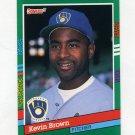 1991 Donruss Baseball #674 Kevin Brown - Milwaukee Brewers