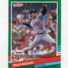 1991 Donruss Baseball #639 Paul Abbott RC - Minnesota Twins
