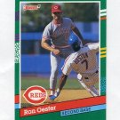 1991 Donruss Baseball #628 Ron Oester - Cincinnati Reds