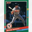 1991 Donruss Baseball #597 Mickey Tettleton - Baltimore Orioles