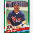 1991 Donruss Baseball #582 Brian Harper - Minnesota Twins