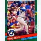 1991 Donruss Baseball #572 Greg Brock - Milwaukee Brewers