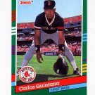 1991 Donruss Baseball #568 Carlos Quintana - Boston Red Sox