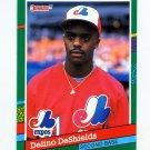 1991 Donruss Baseball #555 Delino DeShields - Montreal Expos