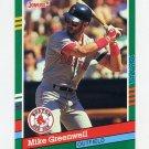1991 Donruss Baseball #553 Mike Greenwell - Boston Red Sox